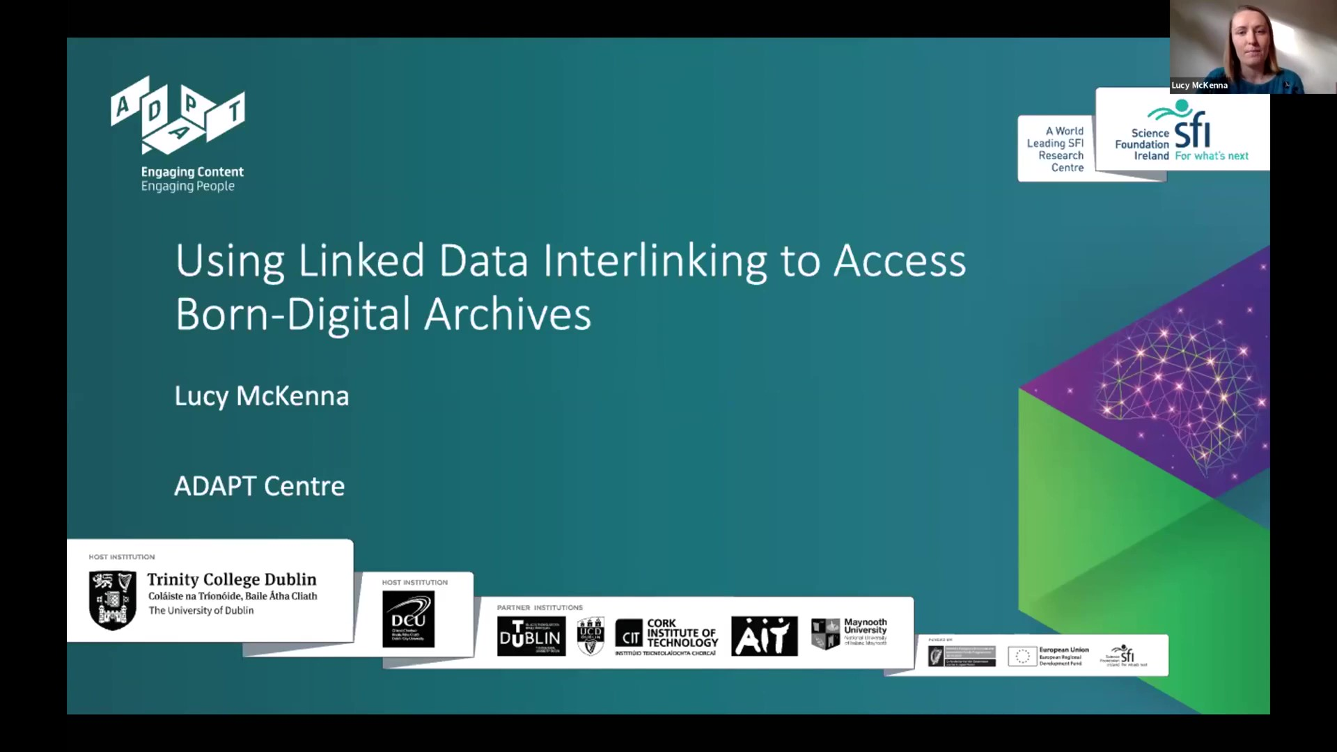 Workshop 1 – Lucy McKenna – Using Linked Data Interlinking to access born-digital archives