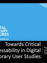 Workshop 1 – Paul Gooding – Towards Critical Addressability in Digital Library User Studies profile photo