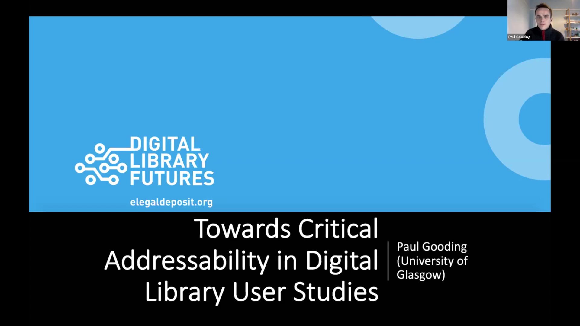 Workshop 1 – Paul Gooding – Towards Critical Addressability in Digital Library User Studies