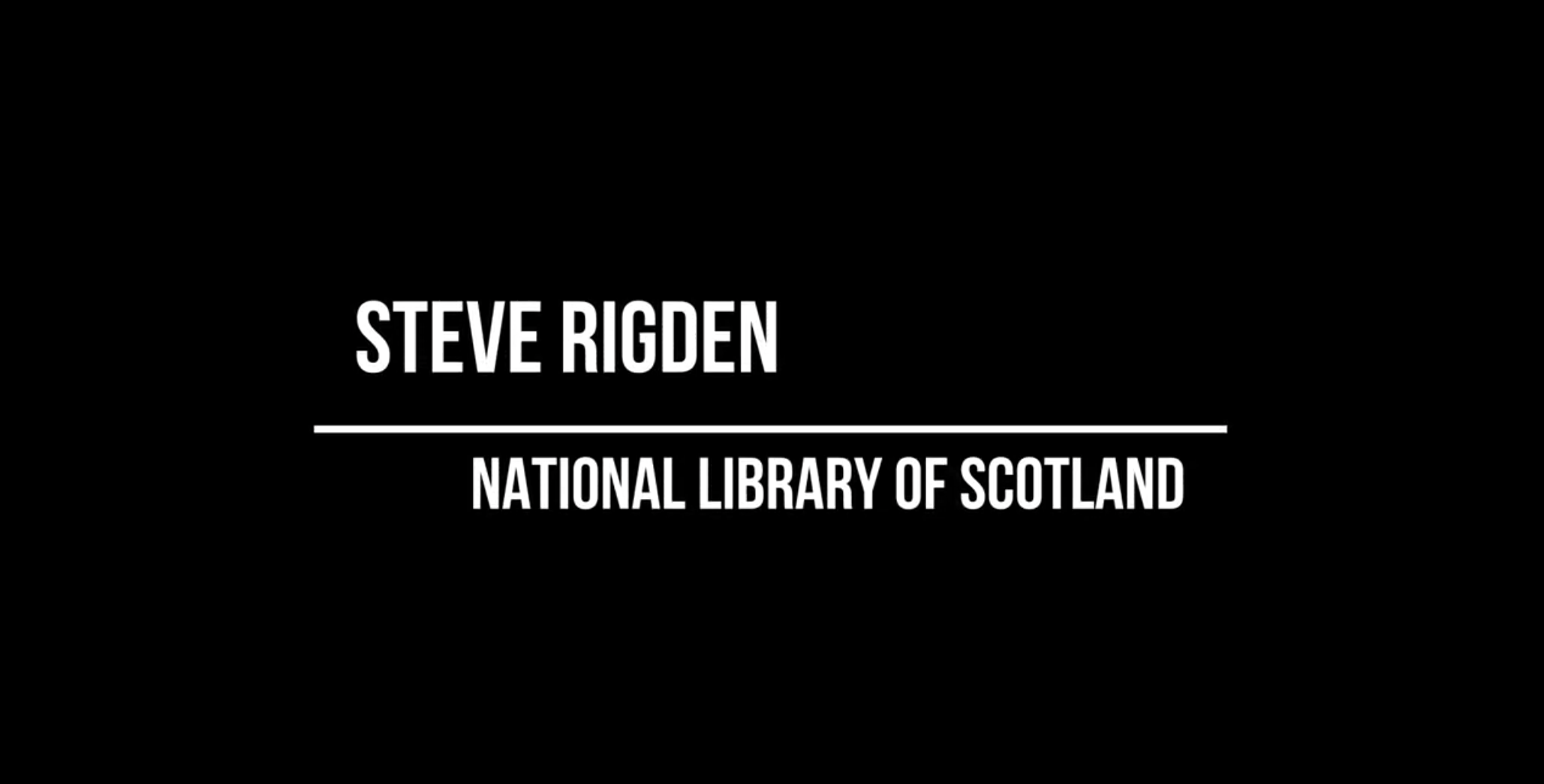 Workshop 1 – Steve Rigden – Sensitivity Review and Access to Digital Materials at the National Library of Scotland