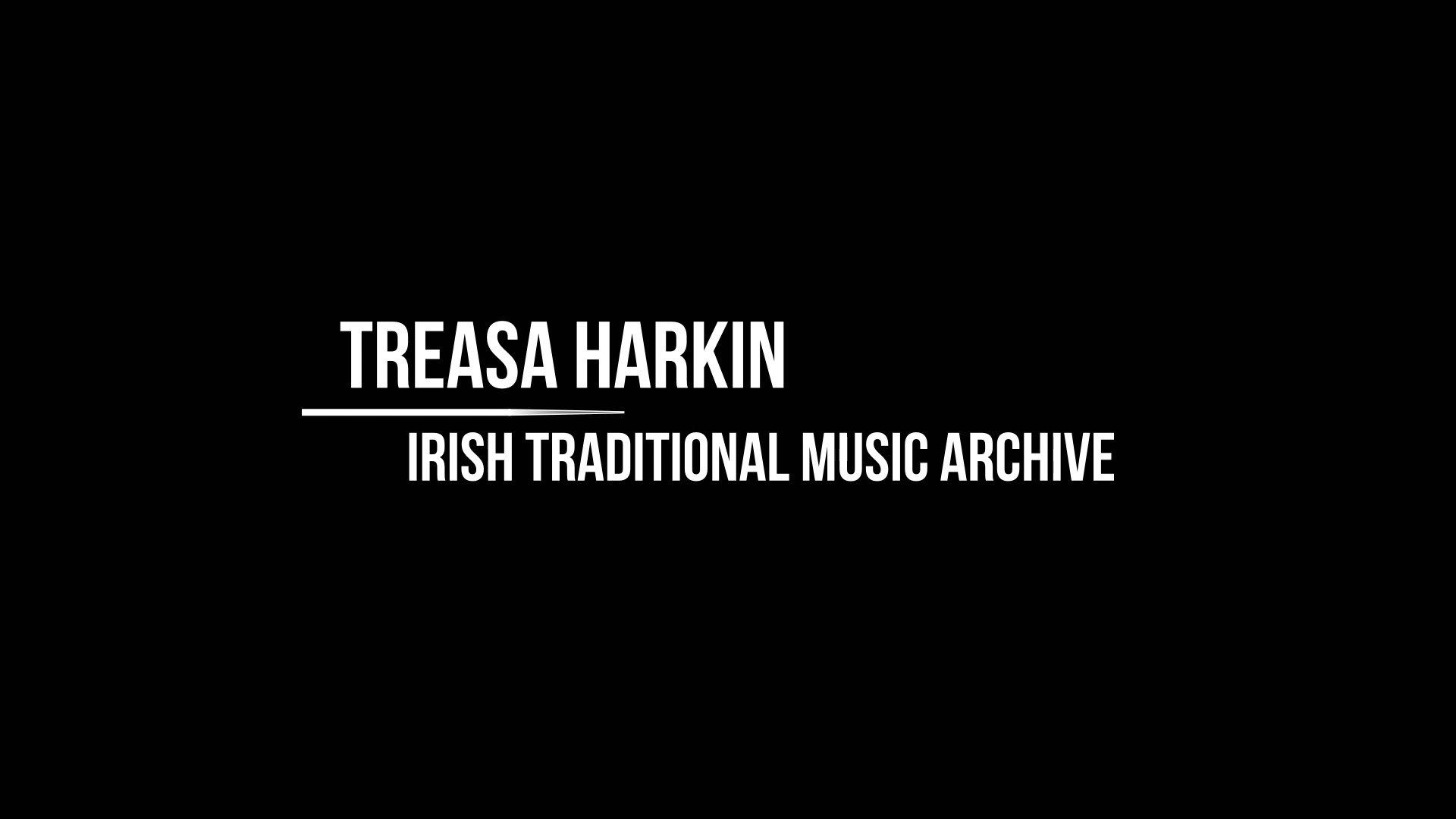 Workshop 1 – Treasa Harkin – Preserving records from the Willie Clancy music festival